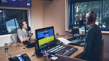 Dean Lewis in the Beats 1 LA studio with Zane Lowe. Pic: Apple