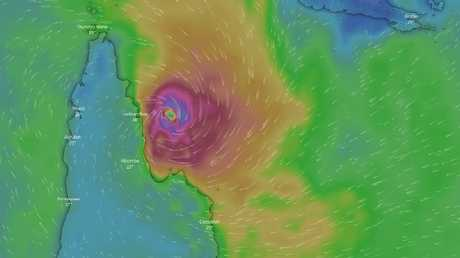 Severe Tropical Cyclone Trevor is expected to make landfall near Lockhart River. SOURCE: Windy.com