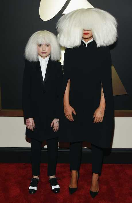 Sia (right) with Maddie Ziegler (left) at the 2015 Grammy Awards. Picture: Larry Busacca/Getty Images for NARAS