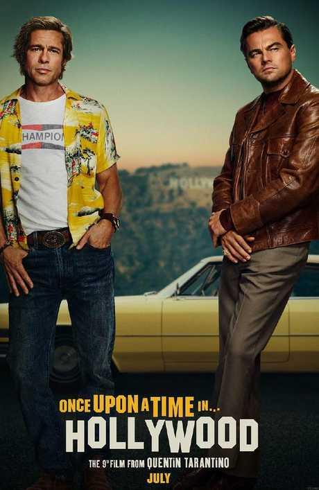 The poster for Brad Pitt and Leonardo DiCaprio's new movie.