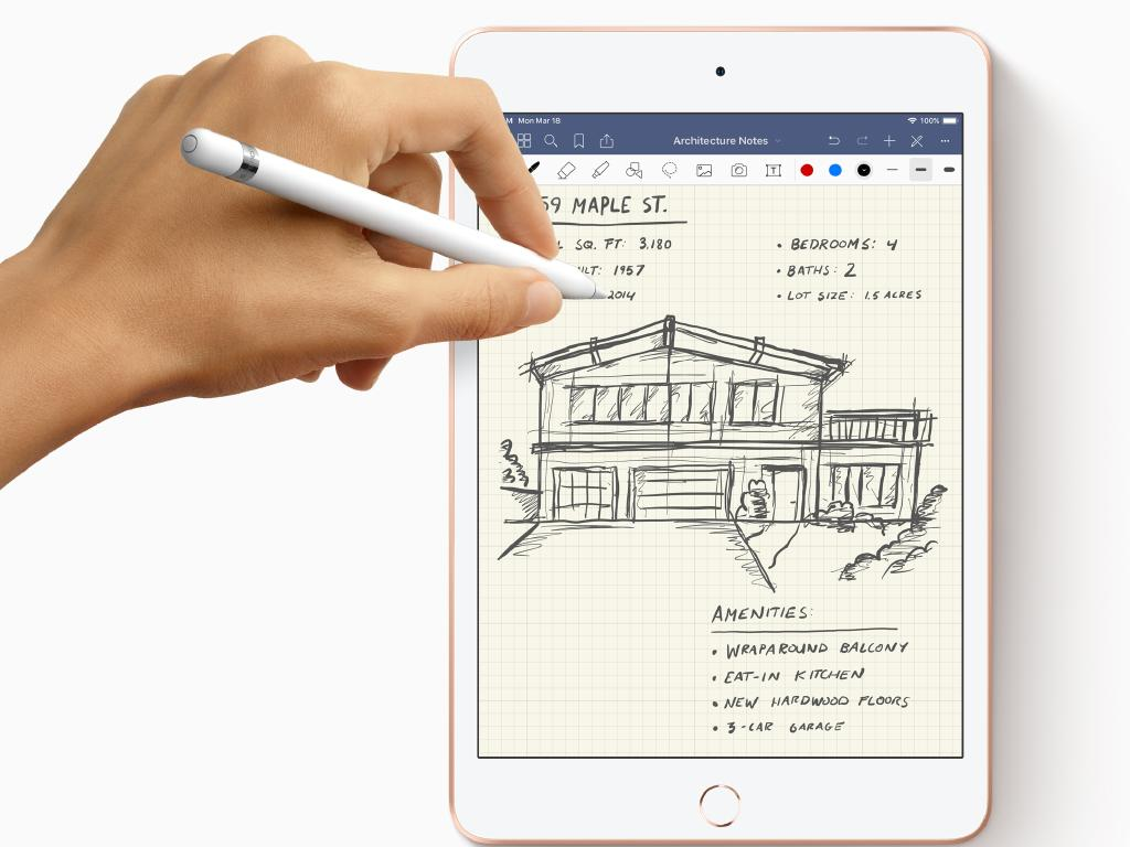 Apple iPads launched by Tim Cook on Twitter will support the Apple Pencil for the first time. Picture: Supplied