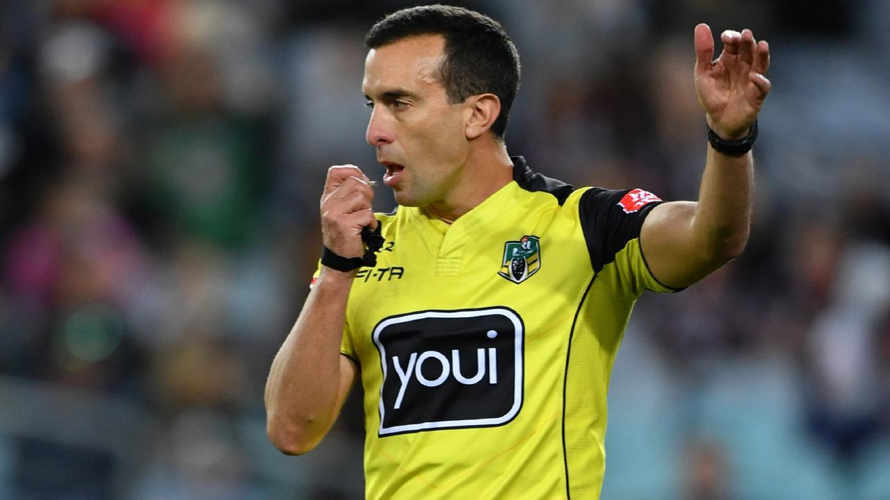 Referee Matt Cecchin is back in the NRL.