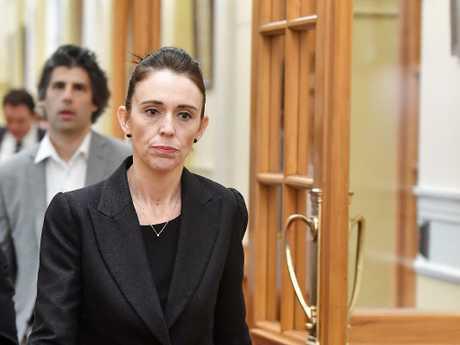 NZ Prime Minister Jacinda Ardern says she will never utter the alleged Australian gunman's name in public.