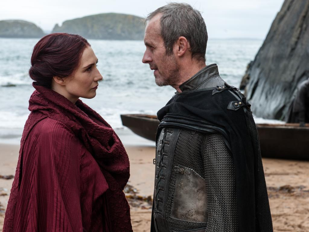 Melissandre and Stannis Baratheon. Picture: HBO
