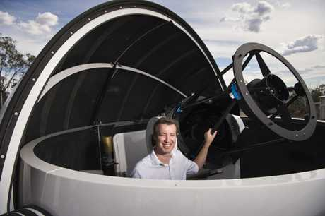 Dr Duncan Wright at the launch of USQ's expansion of the Mount Kent Observatory.