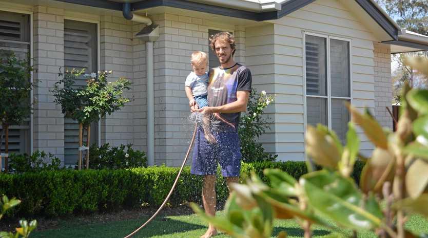 GREEN GARDEN: Water restrictions in Gatton could threaten Tim Petersen's beautiful garden.