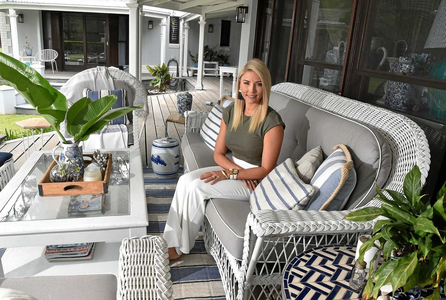 Interior designer Danni Morrison coverted her home inspired by the Hamptons beach house theme.