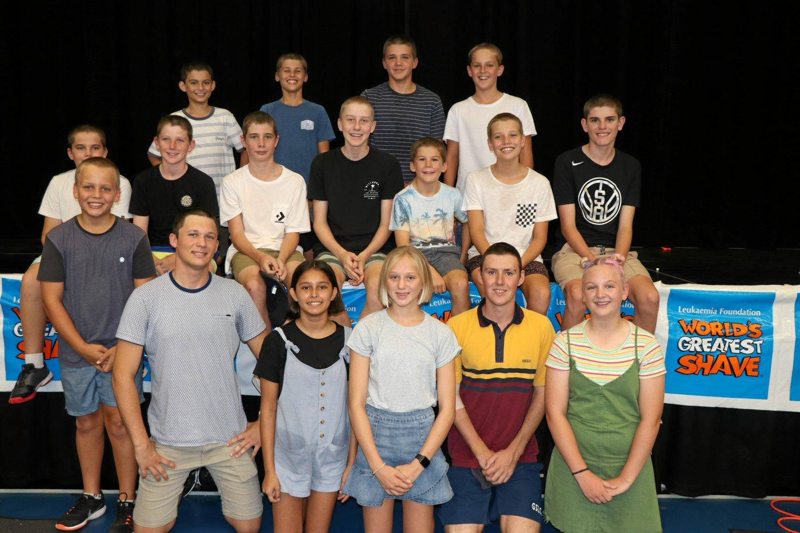 BRAVE: Good Shepherd students   shaved, cut  and styled their hair   for the World's Greatest Shave.