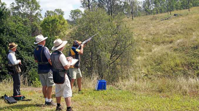 The Gympie Sporting Clays club hosted 40 of the state's most deadeye shooters for a State Selection Shoot at the Sexton grounds last Sunday.