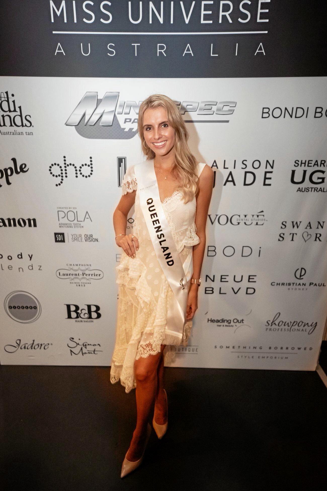 Noosa's  Kate Radin is a   finalist for Miss Universe Australia.