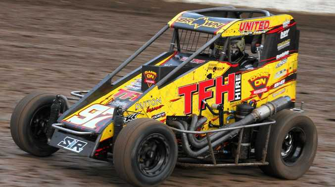 RACE READY: Former Australian Speedcar Champion Kaidon Brown will be attempting to join his father Mark as a winner of the Australian Speedcar Grand Prix.