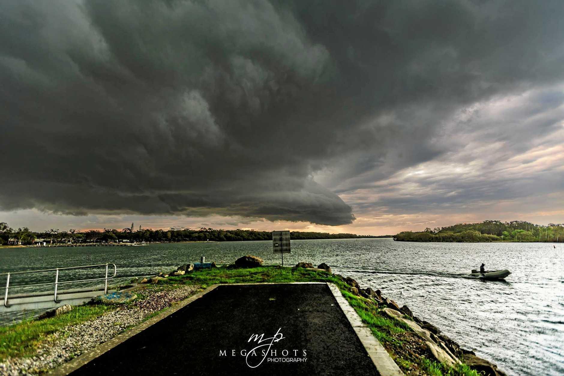 A large storm makes its way towards Yamba.