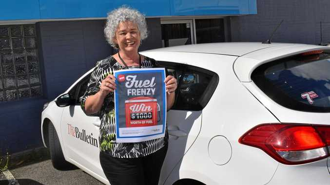 FUEL FRENZY: Marilyn Knight from The Morning Bulletin is excited about the Fuel Frenzy competition.