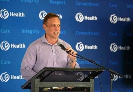 Rockhampton Hospital carpark opening, Minister for Health Dr Steven Miles.