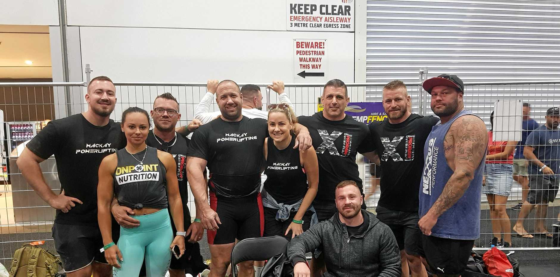 Team Mackay at the Pro Raw Powerlifting competition at The Arnold Sports Festival in Melbourne. March 18, 2019.