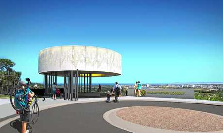 Concept design for the new North Mackay Rotary Lookout  and scenic trail.