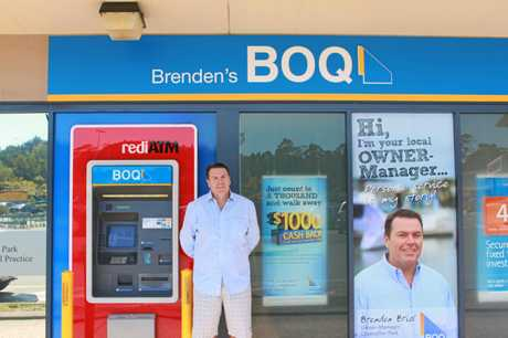 FLASHBACK: Brenden Brial in front of the Chancellor Park Bank of Queensland back in 2012.