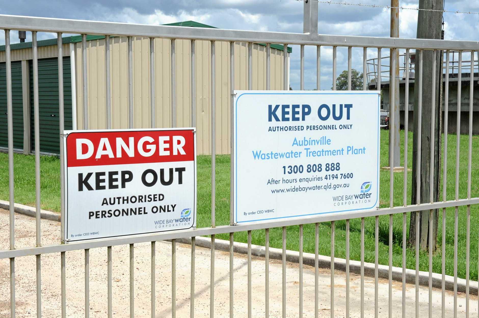 Aubinville Sewage Treatment Plant.  Photo: Megan Pope / Fraser Coast Chronicle