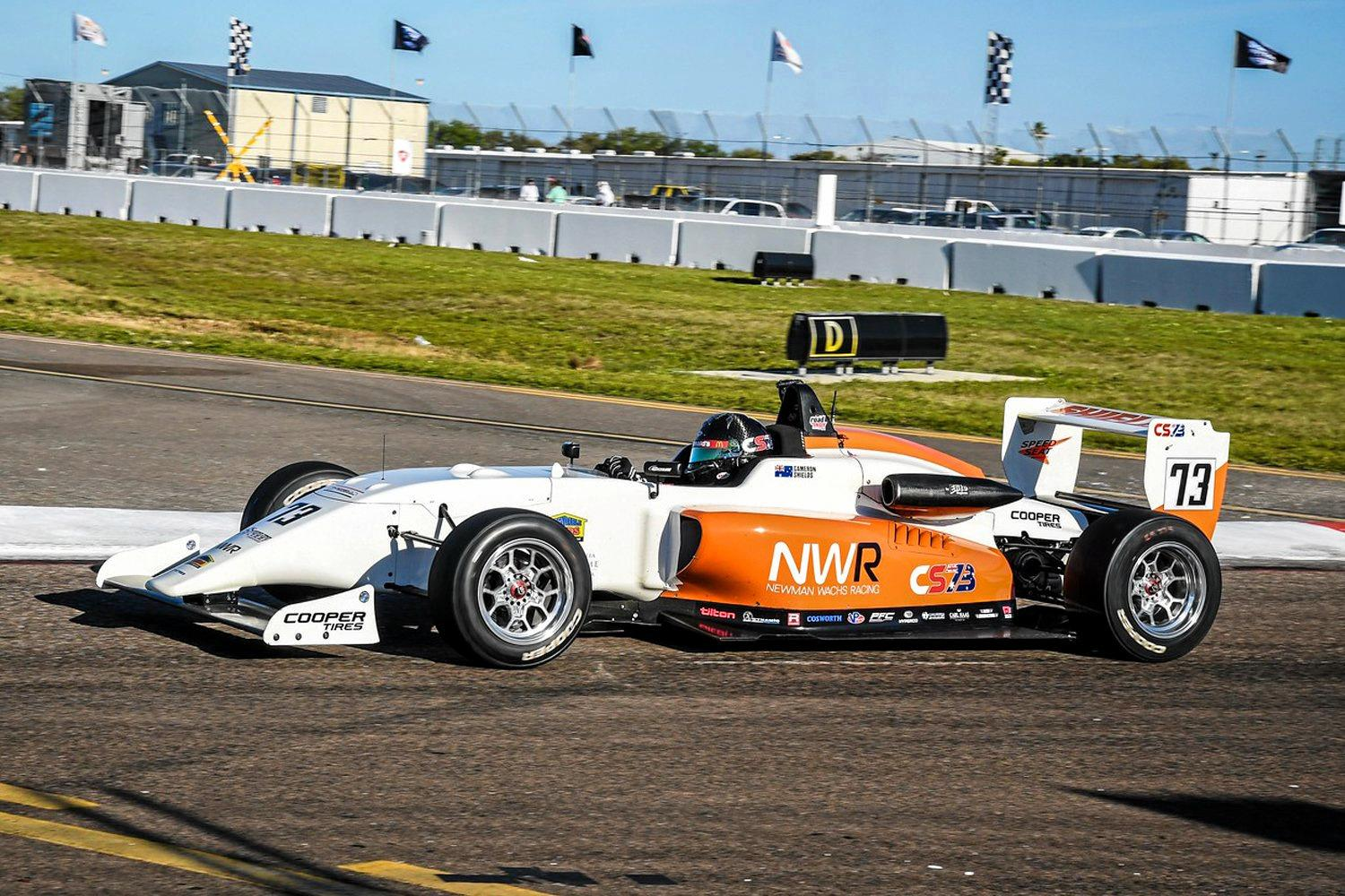 RACE DEBUT: Toowoomba's Cameron Shields made his Road to Indy Presented by Cooper Tires debut in the USF2000 program at the Grand Prix of St Petersburg, finishing with a top result of 11th.