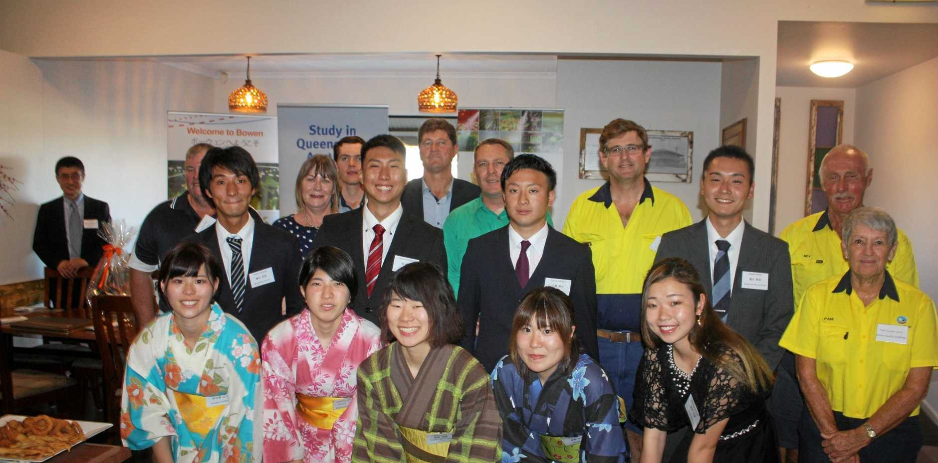 BOWEN E YOUKOSO: Japanese students have arrived in Bowen to take part in a 12-month training program in agriculture.