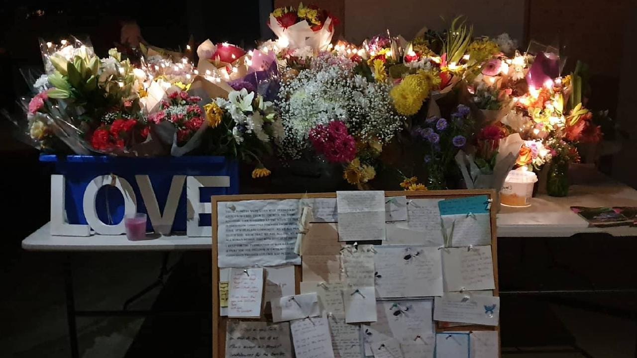 Some of the messages of support at Lutwyche mosque after the Christchurch tragedy. PICTURES: FACEBOOK