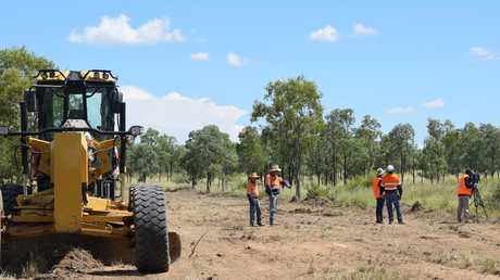 Work has started on access roads around the Adani mine site. Picture: Supplied