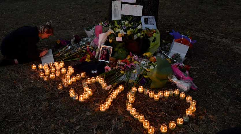 A makeshift memorial at the Al Noor Mosque on Deans Rd in Christchurch. Picture: Mick Tsikas/AAP