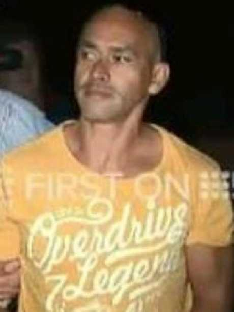 Wayne Andrew Hearn is taken into custody. Picture: Nine News