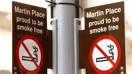 Sydney's wide and open iconic public space of Martin Place has seen smoking banned. Picture: John Appleyard