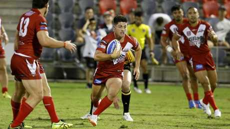 Cory Paix in action for Redcliffe at Dolphins Stadium. Picture: Chris Higgins