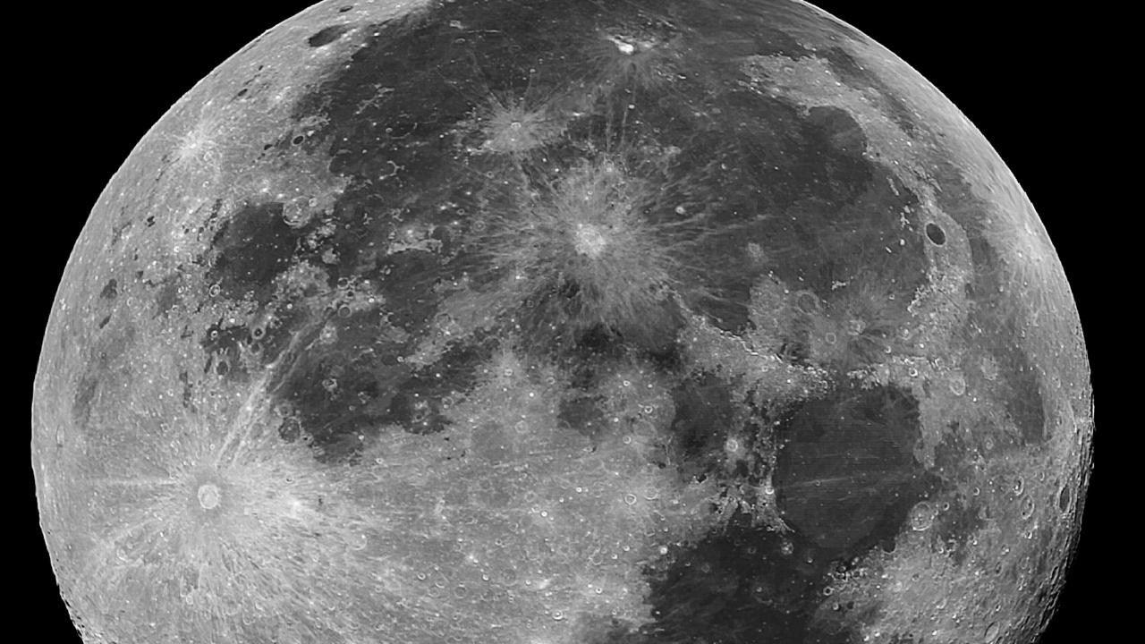 The moon photographed at 9pm on Tuesday March 19. Want to get a photo like this? Astrophotographer Steven Morris shares how below. Picture: Steven Morris