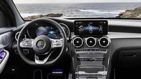 2019 Mercedes-Benz GLC Coupe has a more traditional screen layout.