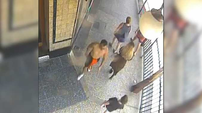 A still from CCTV footage of the one-punch attack
