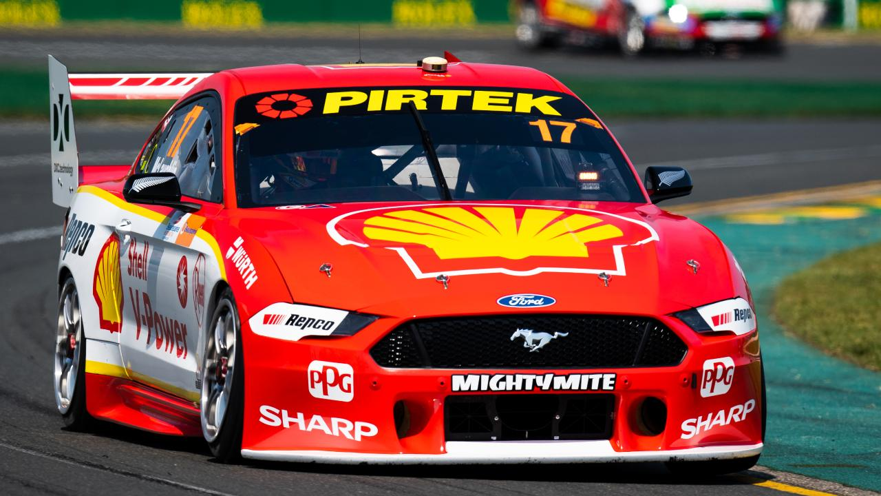 Scott McLaughlin drives the DJR Team Penske Mustang during the Supercars Melbourne 400 at the weekend. Picture: Getty Images