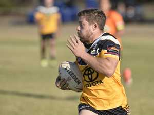 Tye Gray on the move for Gatton against Souths in TRL