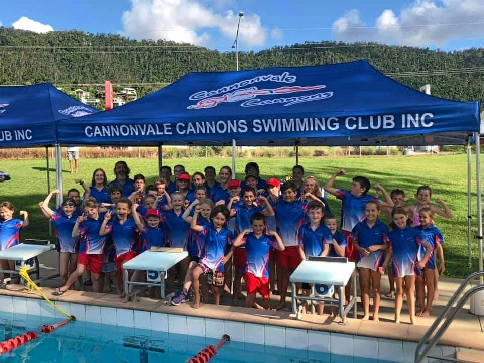 GREAT TIME: Many of the Cannonvale Cannons swimmers who competed in last Saturday's club championships. It was a great effort by all competitors and some excellent results.