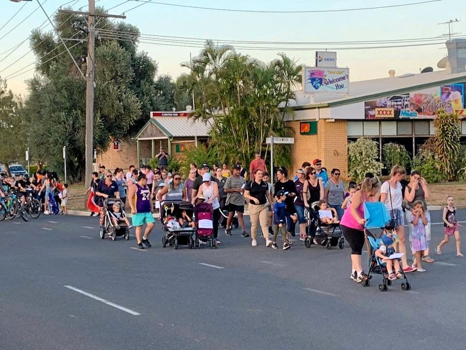 WE ARE ONE: Blackwater residents held a 'peace walk' for the Christchurch terror attack victims.