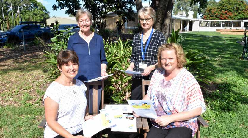 CARING HELP: The Dementia Unravelled Launch undergoes final preparations with committee member Rosemary Munroe, Blue Care multi-service manager Debra Boon, project coordinator Judy Mazzer and Wharoonga Age Care service manager Lorna Perrett.