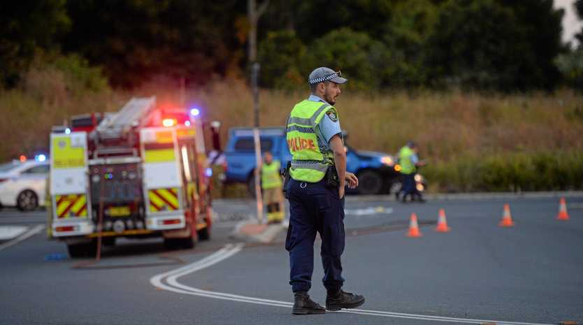 A motorbike rider has died after a crash on the intersection of Ballina Rd and the Bruxner Hwy at Alstonville.