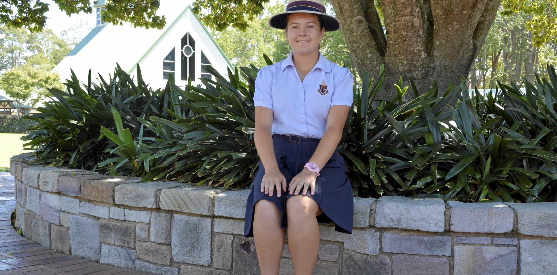 Kam Dunemann was back at school this week after her dual golf championship victories.
