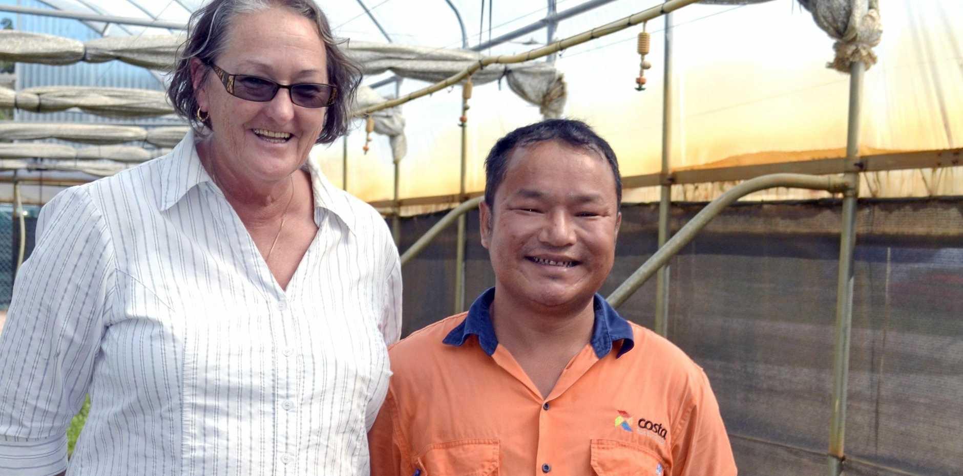 VALUED EMPLOYEE: Maria Skinner and Peng Uk Lian Chin.