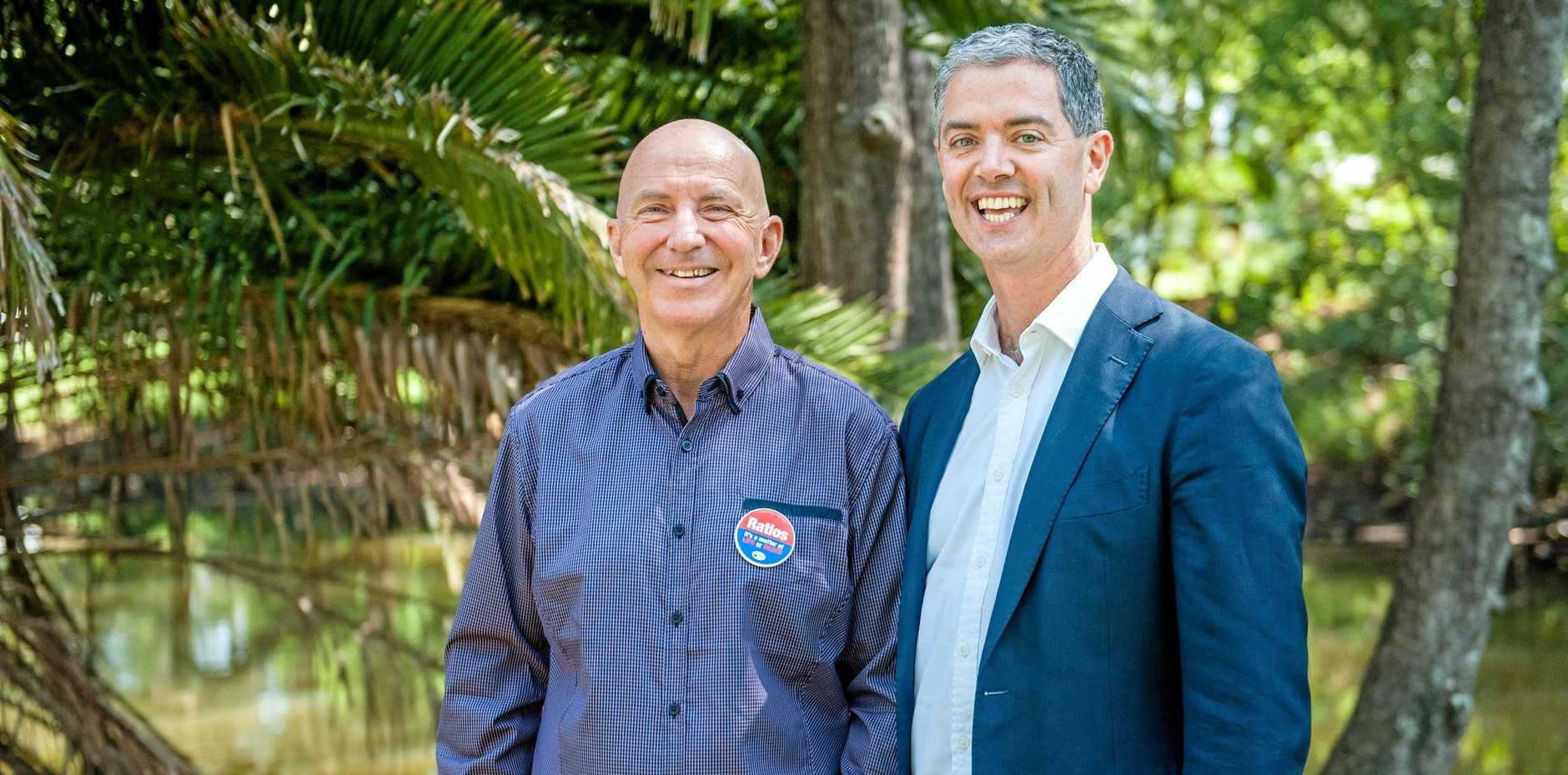 Coffs Harbour Labor candidate Tony Judge with Shadow Minister for Tourism and Foresty John Graham.