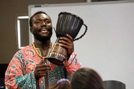 African drumming instructor and artist Gabriel Otu.