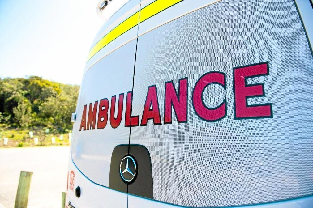 A man was hospitalised following a single-vehicle crash overnight.