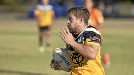Tye Gray on the move for Gatton against Souths in TRL Premiership round 18 rugby league at Glenholme Park, Sunday, August 5, 2018.