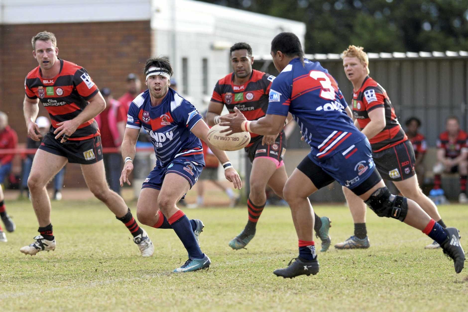 Paul Cantwell of Warwick against Valleys in TRL Premiership round 17 rugby league at Herb Steinohrt Oval, Sunday, July 29, 2018.