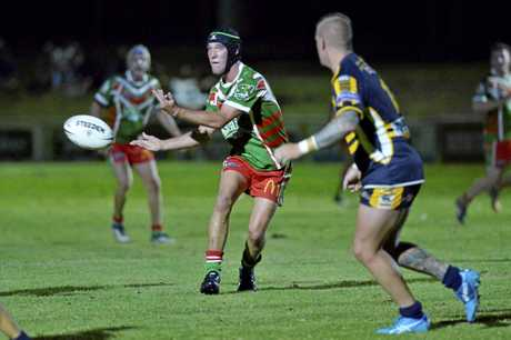 Brady Manktelow of Pittsworth against Highfields in TRL round 2 at Kuhls Rd ovals, Saturday, March 24, 2018.