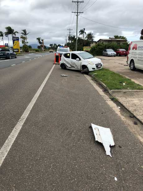 Mr Anderson's Toyota Pulsar was written off after a hit and run on February 26.