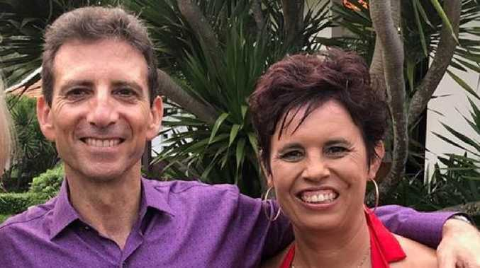 Universal Medicine Cult leader Serge Benhayon with Tanya Curtis pictured at a Universal Medicine retreat in Vietnam. The photo was posted on Ms Curtis's Facebook page this week.
