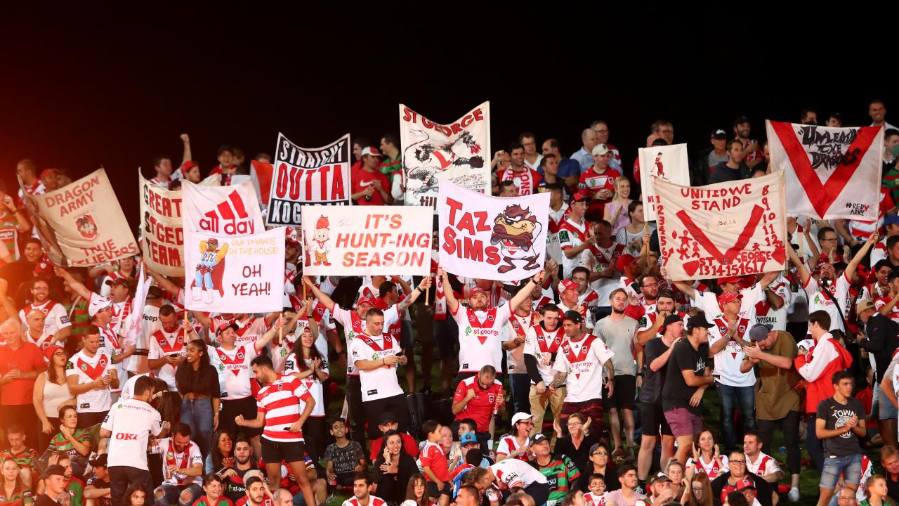 The Dragons faithful turned out in force. (Photo by Cameron Spencer/Getty Images)